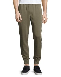 Atm Anthony Thomas Melillo Slim Fit Cotton Blend Sweatpants Green