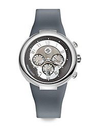 Philip Stein Teslar Active Stainless Steel And Silicone Watch Grey