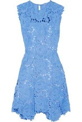 Catherine Deane Woman Fjola Guipure Lace Mini Dress Azure