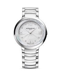 Baume And Mercier Promesse Watch 34Mm White Silver