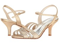 Caparros Gemini Gold Metallic Fabric Women's Dress Sandals