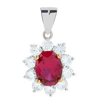 Carat 2Ct Fancy Oval Ruby Pendant Female