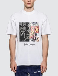 Palm Angels Bandana Collage T Shirt White