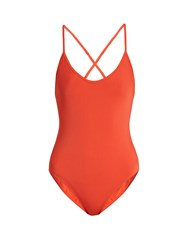 Bower Fitzgerald Cross Back Swimsuit Red