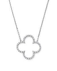 Kc Designs Diamond Clover Pendant Necklace In 14K White Gold .35 Ct. T.W.