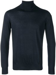 Cruciani Roll Neck Fitted Sweater Blue
