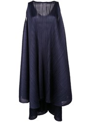 Issey Miyake Pleats Please By Pleated Shift Dress Blue
