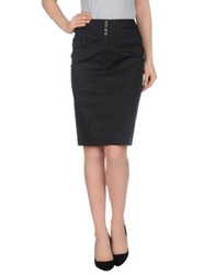 Metradamo Knee Length Skirts Black
