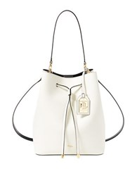 Lauren Ralph Lauren Medium Dryden Drawstring Bag Vanilla