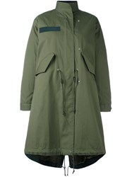 Sacai Layered Fishtail Parka Green