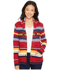 Pendleton Sunset Cardigan Red Multi Women's Sweater