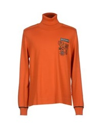 Love Moschino Turtlenecks Orange