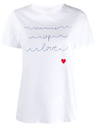 Chinti And Parker Summer Of Love T Shirt White