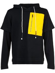 Mostly Heard Rarely Seen Colour Block Hooded Sweatshirt Black