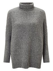 East Lurex Chunky Knit Jumper Grey