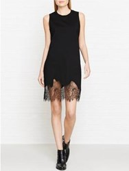 Mcq By Alexander Mcqueen Lace Trim Tank Dress Black