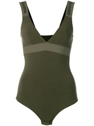 Paco Rabanne Fitted Bodysuit Green