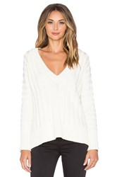 For Love And Lemons Ashley Raglan Sweater Ivory