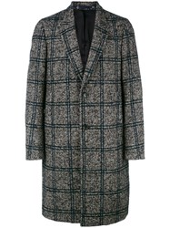 Paul Smith Ps By Checked Single Breasted Coat Grey