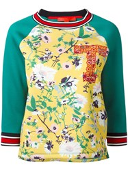 Hilfiger Collection Floral Sweatshirt Women Modal M Green