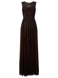 Phase Eight Collection 8 Sybilla Embellished Dress Chocolate