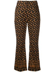 Alberta Ferretti Multi Pattern Trousers Black