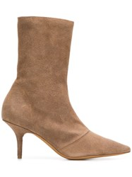 Yeezy Pointed Ankle Boots Brown