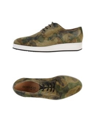Boemos Lace Up Shoes Military Green