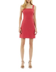 Nicole Miller New York Solid Sleeveless Dress Coral