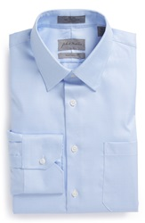 John W. Nordstrom Traditional Fit Non Iron Twill Dress Shirt Blue Placid