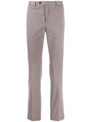 Hackett Straight Leg Chino Trousers Grey
