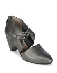 Eileen Fisher Mary Knotted Leather Pumps Pewter