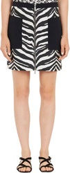 Emanuel Ungaro Zebra Jacquard Mini Skirt Black Size 38 It
