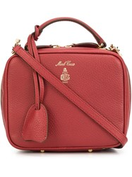 Mark Cross Zip Up Tote Bag Red