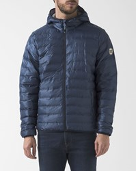 Knowledge Cotton Apparel Blue Light Packable Hooded Down Jacket