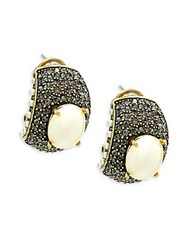 Heidi Daus Faux Pearl And Crystal Statement Earrings Gold