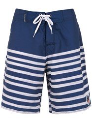 Osklen Striped Swimming Shorts Blue