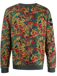 The North Face Printed Sweater Yellow