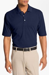 Men's Big And Tall Cutter And Buck 'Championship' Drytec Golf Polo Navy