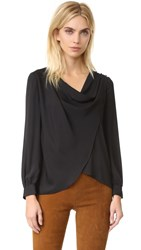 Amanda Uprichard Fern Blouse Black