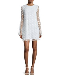 Camilla And Marc Bell Sleeve Swiss Dot Cocktail Dress Creme Women's