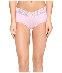 Hanky Panky Logo To Go V Front Boyshort Cotton Candy Pink Women's Underwear