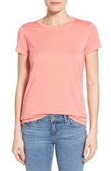 Women's Halogen Short Sleeve Crewneck Tee Coral Sugar