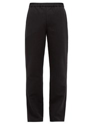 Schnayderman's Tailored Cotton And Wool Blend Trousers Black