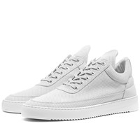 Filling Pieces Low Ripple Nubuck Perforated Sneaker White