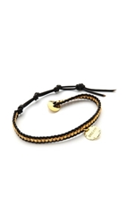 Chan Luu Dream Charm Bracelet Yellow Gold Black