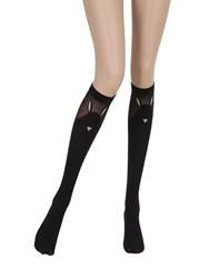 Chantal Thomass Bunny Motif 100 Den Knee Socks