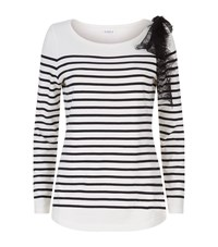 Claudie Pierlot Trocadero Breton Bow Tee Female White