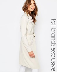 Noisy May Tall Lightweight Trench Coat Cream