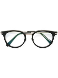Brioni Round Frame Glasses Black